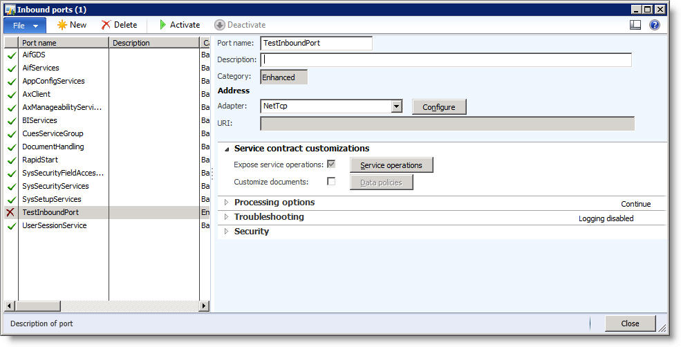 populating missing service operations for aif in dynamics